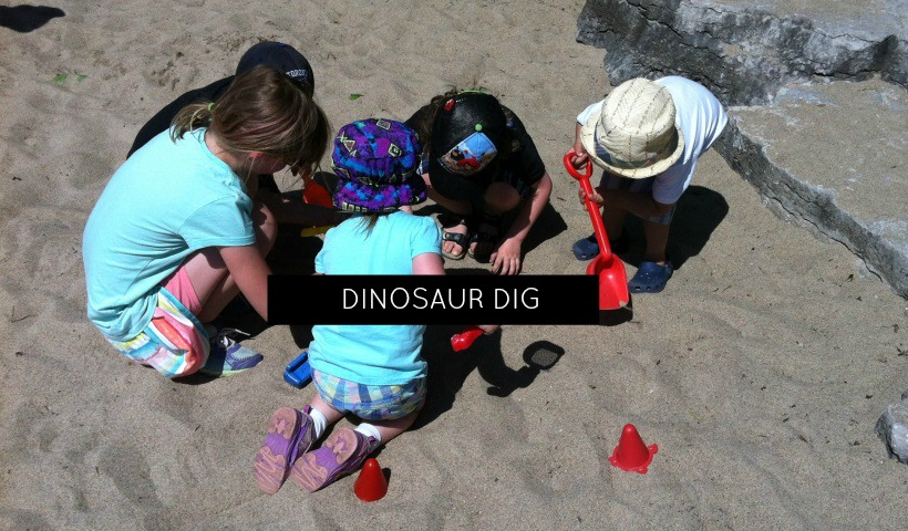 How To Do An Outdoor Dinosaur Dig For Kids